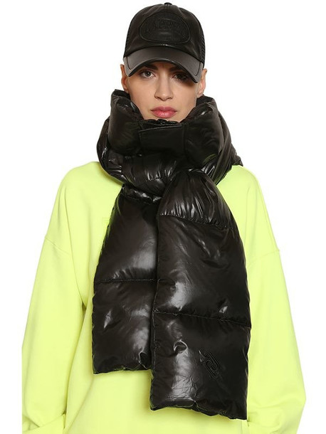 JUUN.J Nylon Down Hood Scarf in black