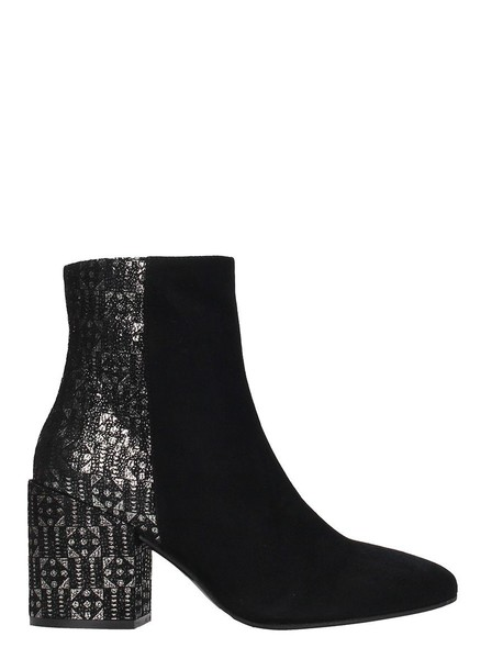 Marc Ellis leather ankle boots metal ankle boots leather black black leather shoes