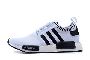 newest collection fd6f4 c551b Adidas NMD White Black Custom Runing Shoes