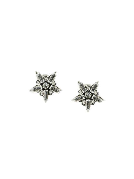 women earrings stud earrings silk grey metallic jewels