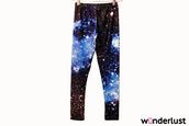 pants,leggings,galaxy print,nebula,space,tights