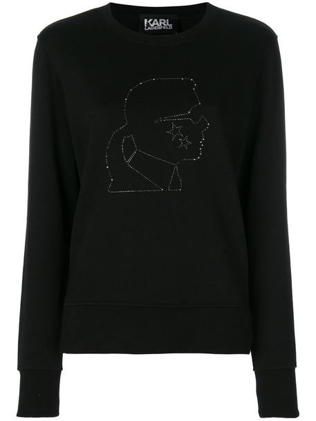 karl lagerfeld sweatshirt women cotton black sweater