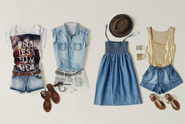 Dress Tumblr Outfit Summer Cute Hot Endless Light Denim Skirt Shorts