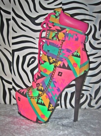 shoes high heels etnico colors cool