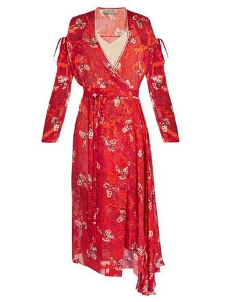 dress satin red