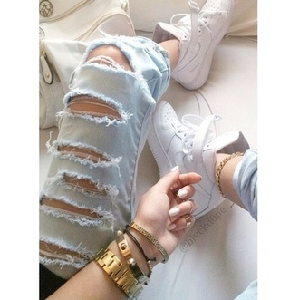 shoes boyfriend jeans gold sequins pants nike air force 1 high top sneakers nike