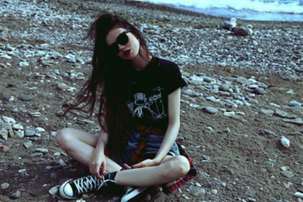 top top t-shirt grunge