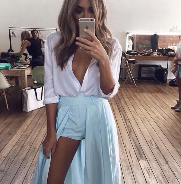 skirt shorts blue skirt skorts long skirt slit skirt fashion style maxi skirt asymmetrical skirt mint dress blouse skorts cut-out train blue maxi tumblr dress short turquoise