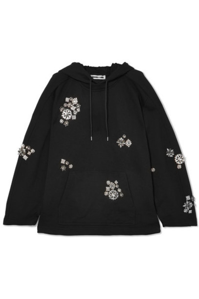 McQ Alexander McQueen sweatshirt embellished cotton black sweater