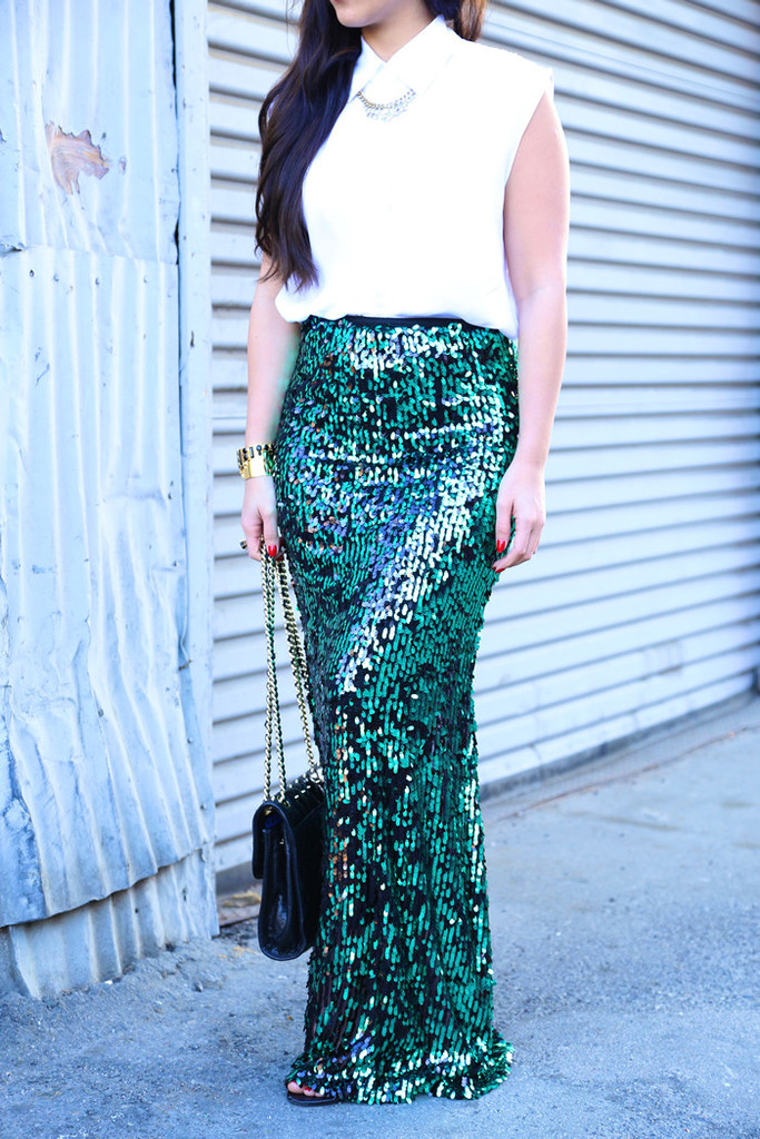 Mermaid Moments Sequins Maxi Skirt Ktrcollection