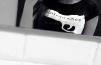 shirt gun don't mess with me black white