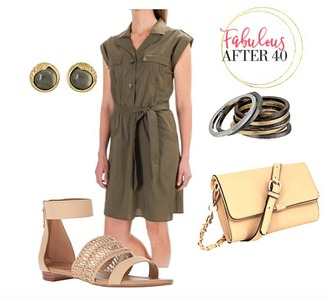 fabulousafter40 blogger jumpsuit shoes bag jewels top shorts