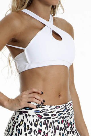 CROPPED TANK WITH STRIPS WHITE BASIC                           | Pitanga Fitness & Beachwear