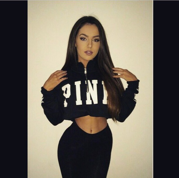 sweater black sweater pink cropped sweater instagram instagram