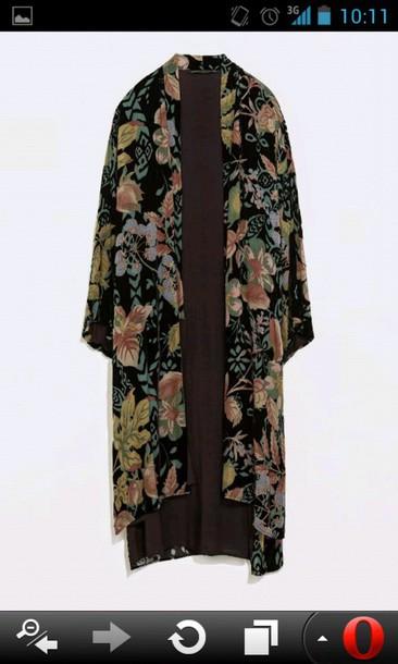 cardigan floreal kimono dandy style dandy