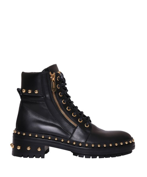Balmain army boots studded shoes