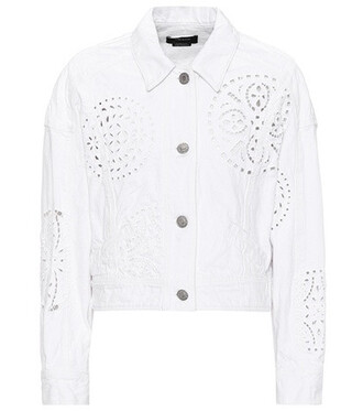 jacket denim jacket denim lace white