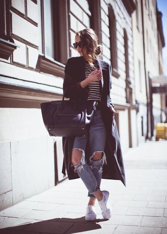 kenza jeans coat sweater shoes sunglasses bag jewels