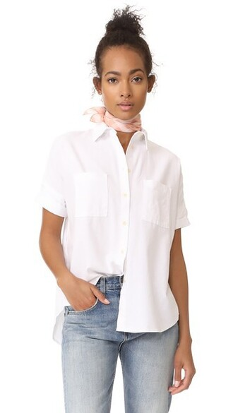 shirt white cotton top