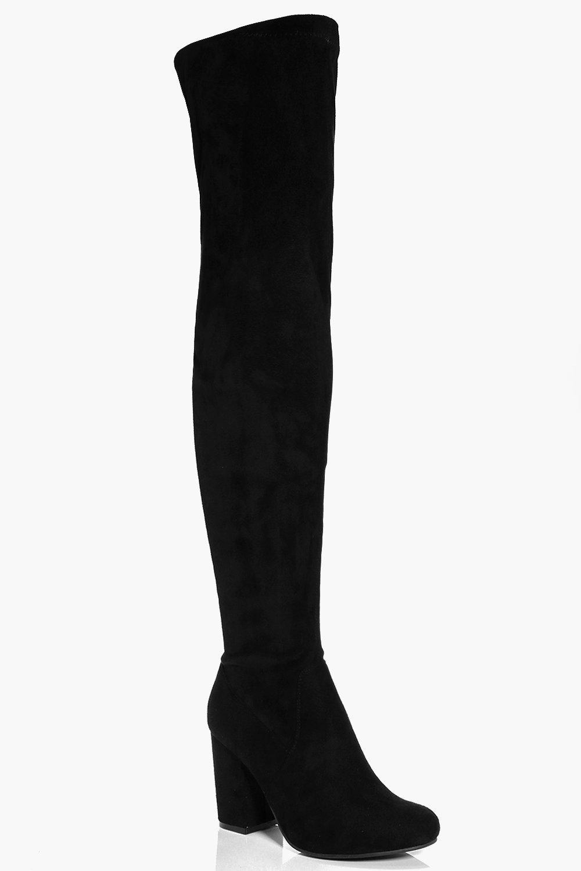 Eloise Block Heel Over The Knee Boot