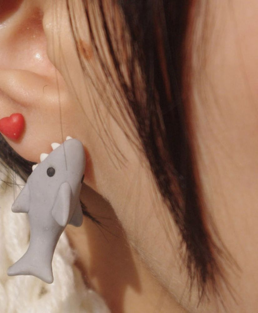 One Shark - Cute Popular Earrings Studs | eBay