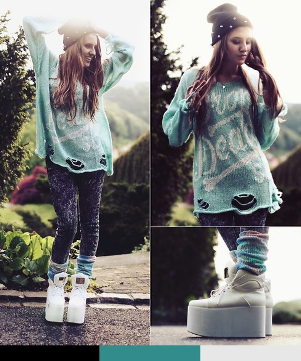 jeans grunge acid wash denim grey jeans black jeans fashion blogger Pop Couture shoes sweater
