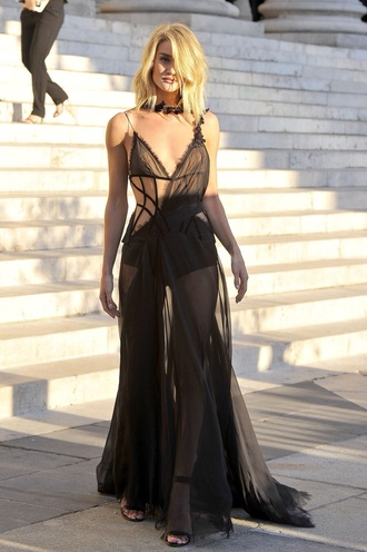 dress victoria's secret model black dress black victoria's secret rosie huntington-whiteley
