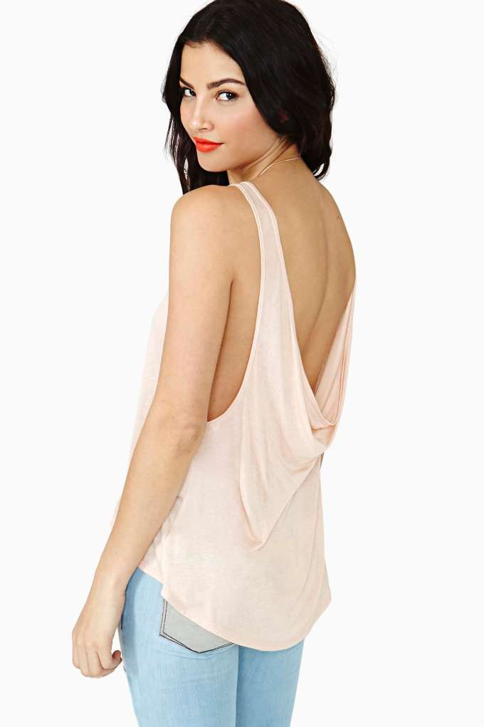 Nasty Gal Two Scoops Tank - Peach in  Clothes at Nasty Gal