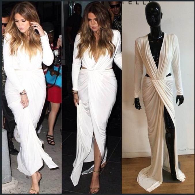 2014 women's autumn winter sexy long sleeves white maxi dress Ladies V Neck Club Bodycon dresses three floor dress-in Dresses from Apparel & Accessories on Aliexpress.com | Alibaba Group