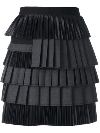skirt draped black