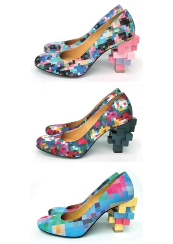 shoes pixel rainbow