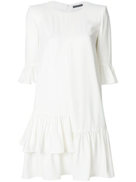 Alexander Mcqueen dress mini dress mini oversized women white silk