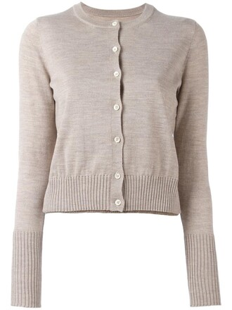 cardigan knit women classic nude wool sweater