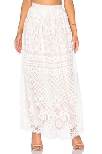 skirt maxi skirt maxi lace white