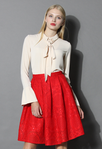skirt sunflower lacey skirt in red red lace