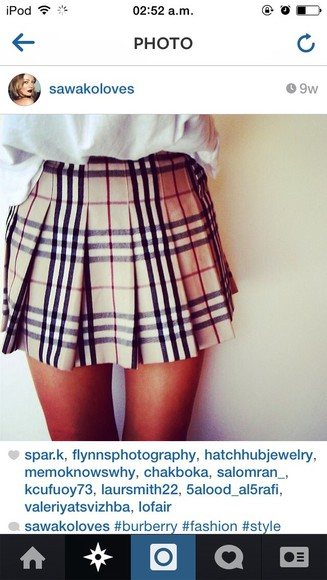 burberry skirt tartan cute dress pink dress cute dress skater t-shirt high heels High waisted shorts
