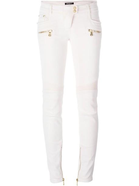 Balmain jeans purple pink
