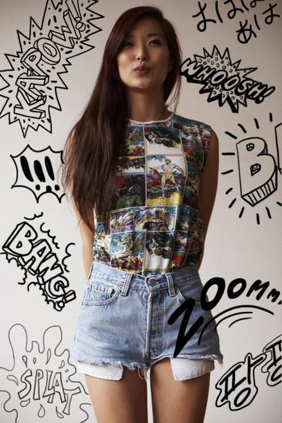 comic shirt shirt