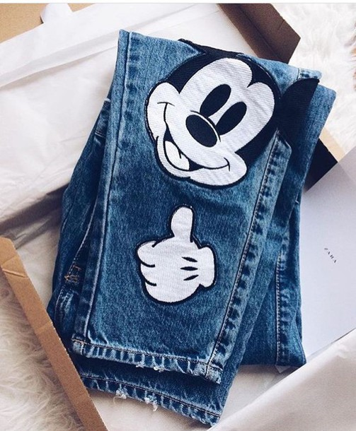 jeans, mickey mouse, mouse, mickey mouse, mickey mouse
