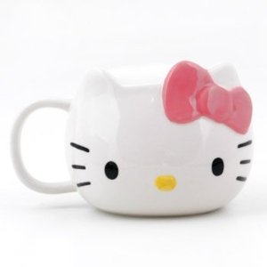 Amazon.com: Hello Kitty Die Cut Mug: Kitchen & Dining