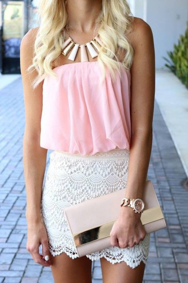 lace shorts light pink jewels summer outfits sun glamour mini shorts lace up bag