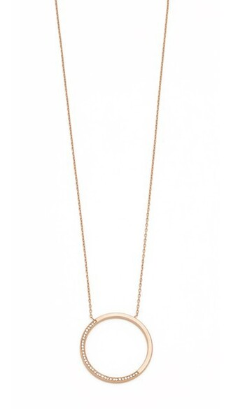 open rose gold rose clear necklace pendant gold jewels