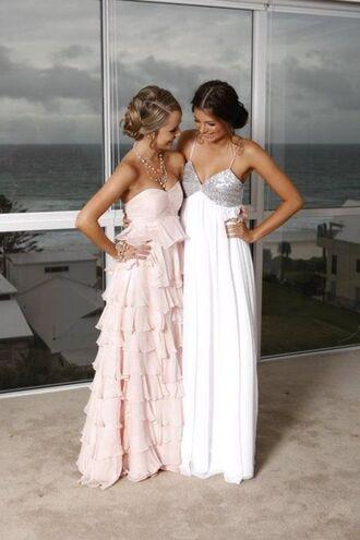 dress prom dress prom white dress sequin dress sequins