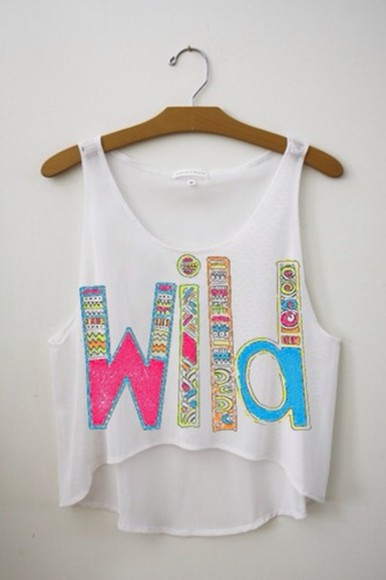 wild tank top colourful