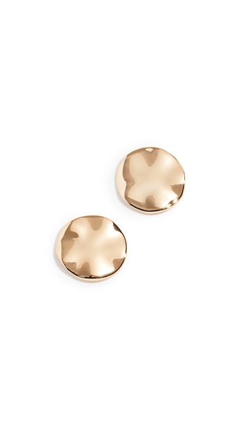 Gorjana Chloe Large Stud Earrings in gold / yellow