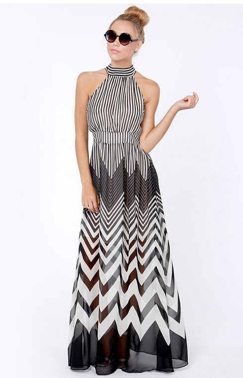 ZigZag Maxi Dress / klassythreadz