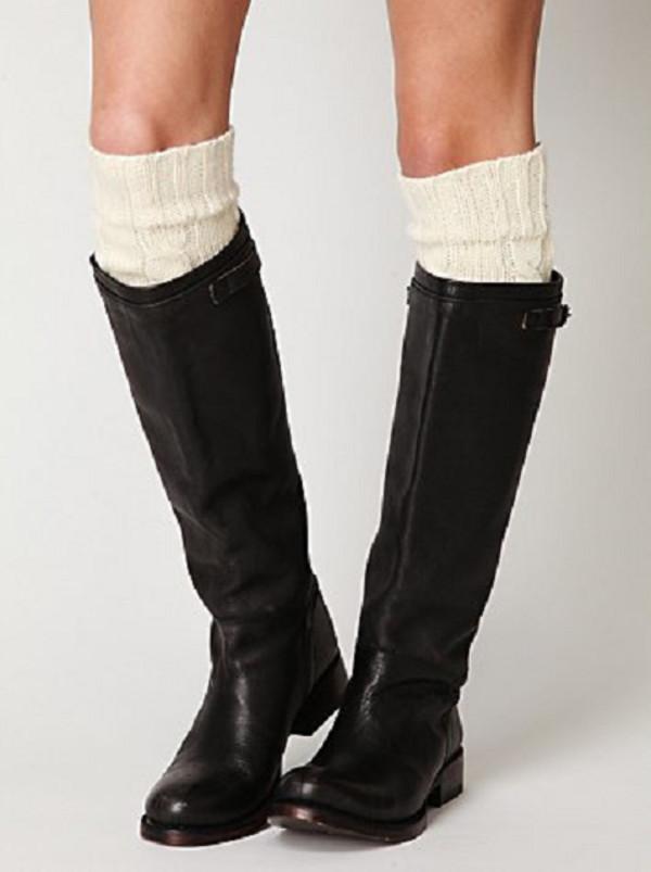 shoes boots socks black zip