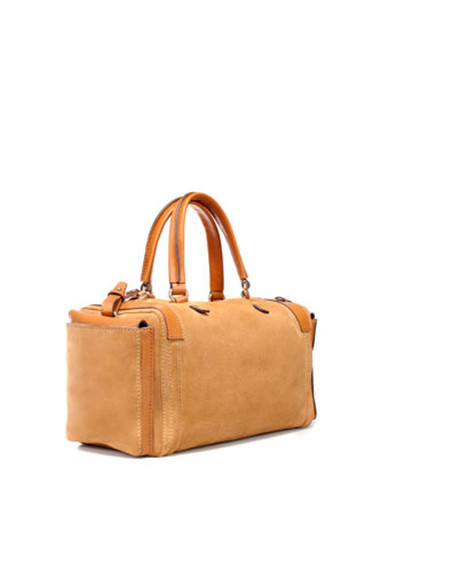 bowling bag bag zara leather bag brown