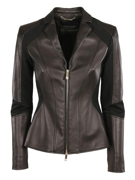 VERSACE jacket biker jacket