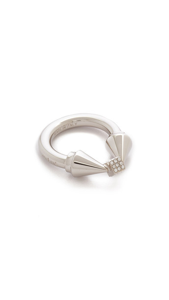 Vita Fede Titan Cubo Ring - Silver/Clear